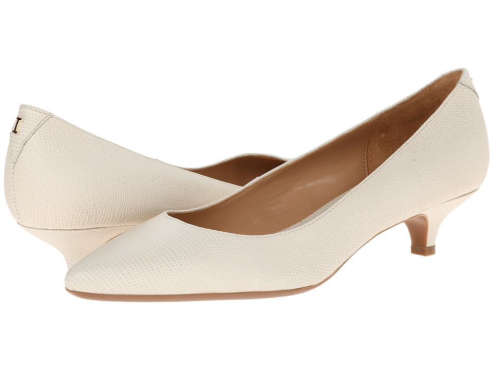Isaac Mizrahi New York - Gabriel 3 (Ivory Lizard) Women's 1-2 inch heel Shoes