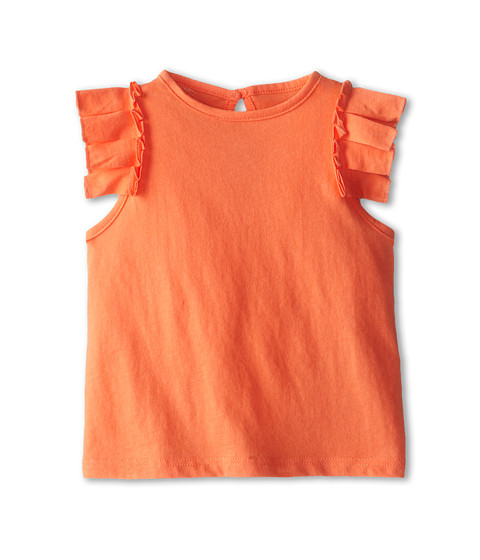 Stella McCartney Kids - Cecile Ruffle Sleeve Tee (Toddler/Little Kids/Big Kids) (Orange) Girl