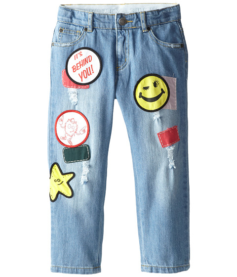 Stella McCartney Kids - Dandy Denim Pant w/ Badges (Toddler/Little Kids/Big Kids) (Denim) Kid