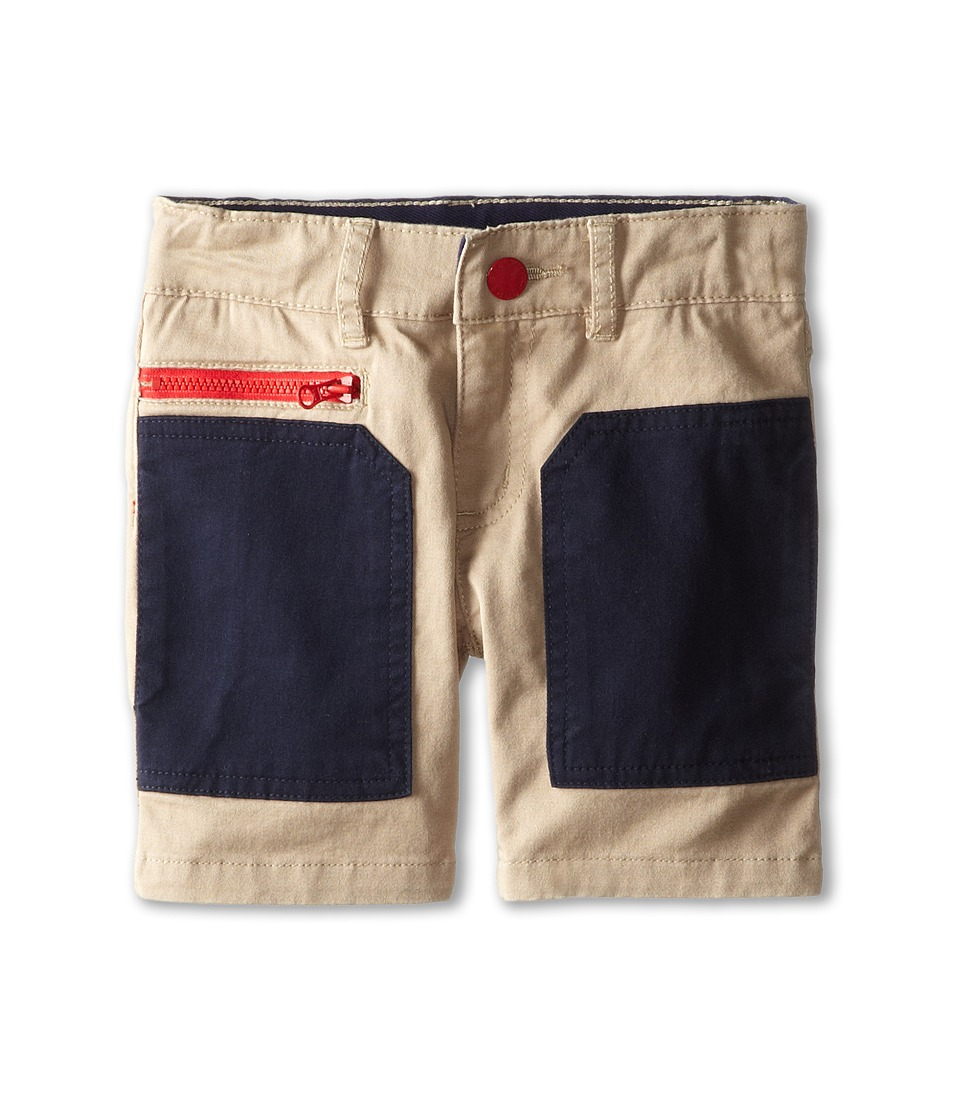 Stella McCartney Kids - Joe Color Block Shorts (Toddler/Little Kids/Big Kids) (Tan) Boy's Shorts