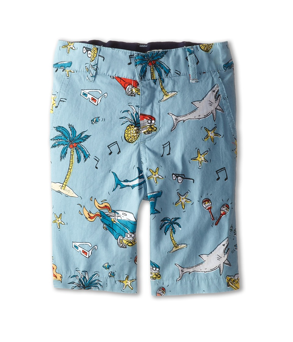 Stella McCartney Kids - Lucas 50's Print Shorts (Toddler/Little Kids/Big Kids) (Blue) Boy's Shorts