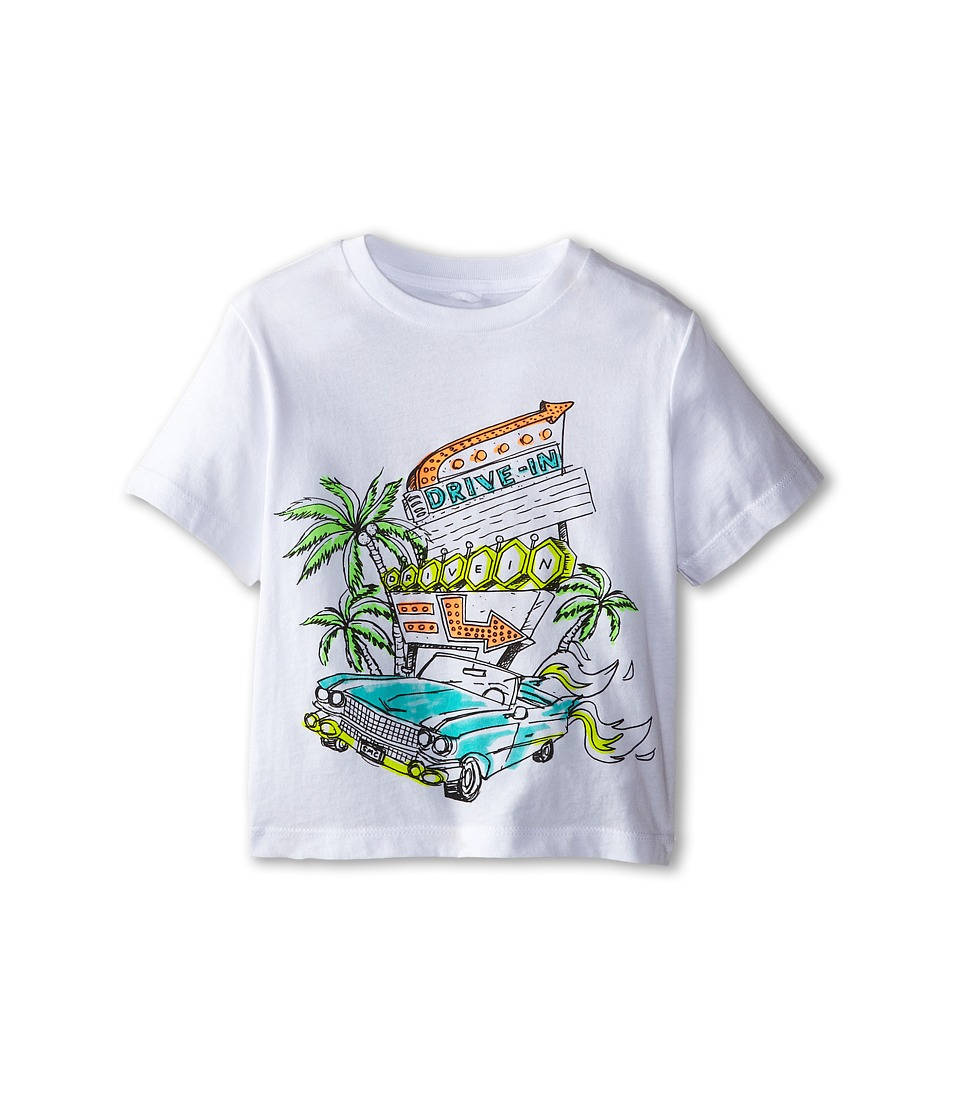Stella McCartney Kids - Arlo C Drive in Graphic Tee (Toddler/Little Kids/Big Kids) (White) Boy's Short Sleeve Pullover