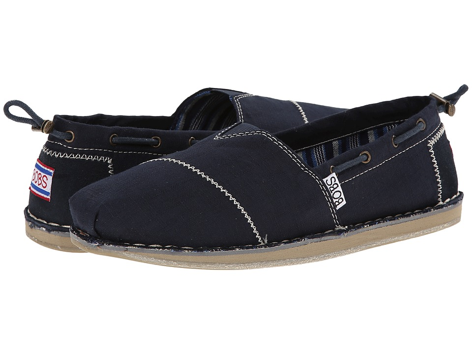 BOBS from SKECHERS - Bob Chill- Rowboat (Navy) Women's Flat Shoes
