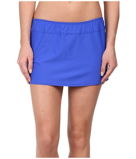 Athena - Finesse Solid A Line Skirt (Blue) Women