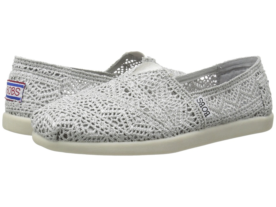 BOBS from SKECHERS - Bobs World - Wild Horses (Silver) Women's Flat Shoes