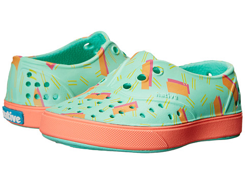 Native Kids Shoes - Miller (Toddler/Little Kid) (80's Lil Confetti/Popstar Orange) Girls Shoes
