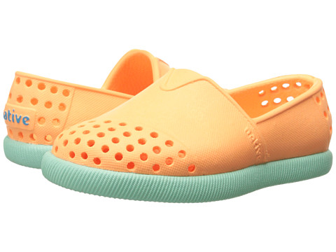 Native Kids Shoes - Verona (Toddler/Little Kid) (Lazer Orange/Glass Green) Girl