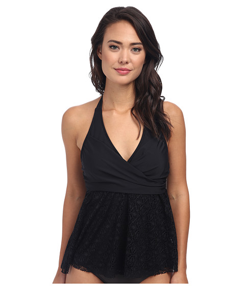 Athena - Gazebo Wrap Tankini (Black) Women