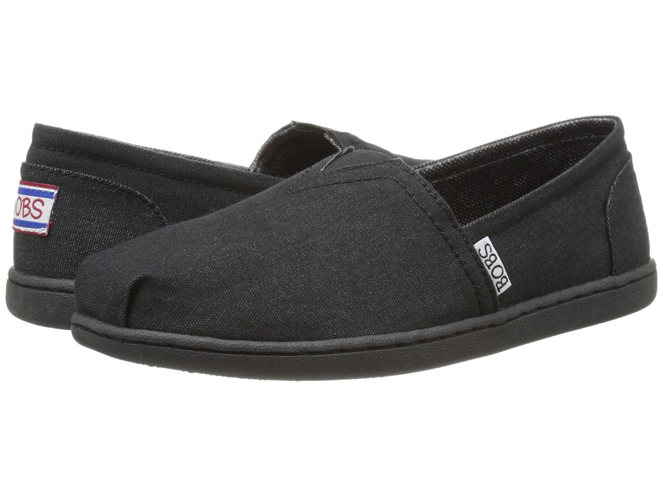 BOBS from SKECHERS - Bobs Bliss - Spring Step (Black/Black) Women
