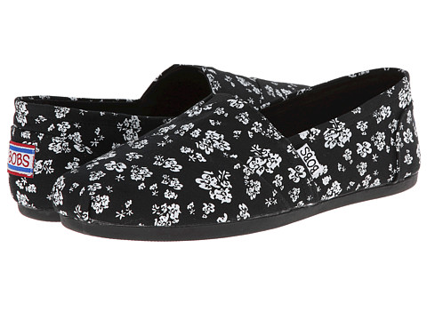 BOBS from SKECHERS - Bobs Plush - Chronic (Black) Women's Flat Shoes