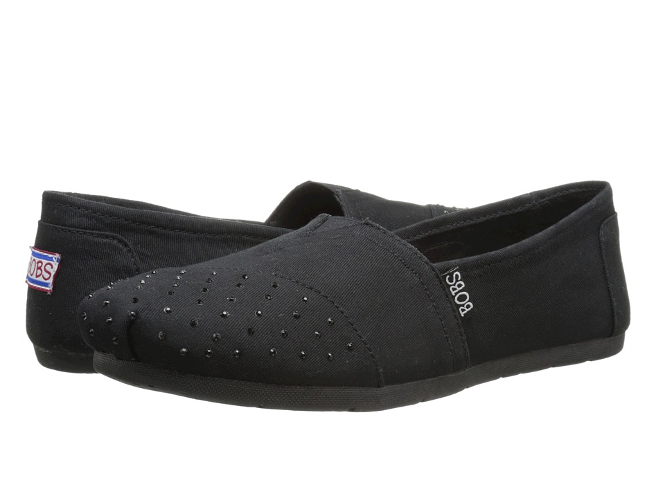 BOBS from SKECHERS Luxe Bobs Subtleties (Black/Black) Women