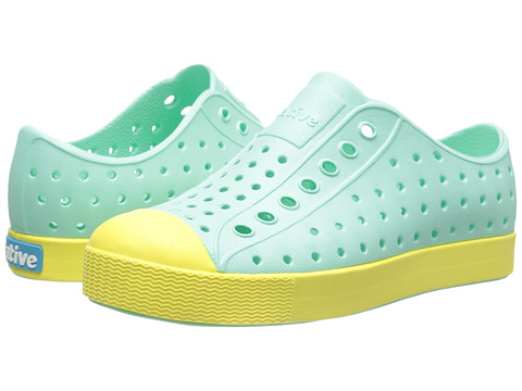 Native Kids Shoes - Jefferson (Little Kid) (Glass Green/Gone Bananas Yellow) Girls Shoes