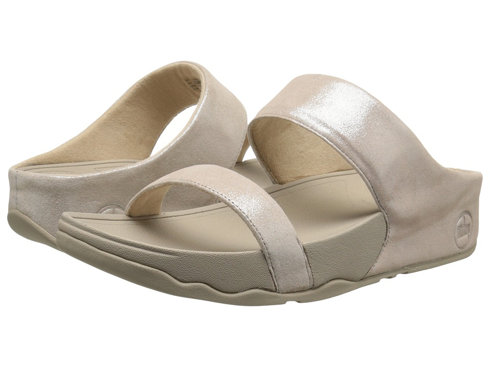 FitFlop Lulu Shimmersuede Slide Nude Womens Sandals