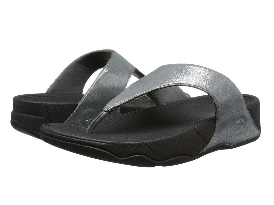 FitFlop - Lulu Shimmersuede (Pewter) Women's Sandals