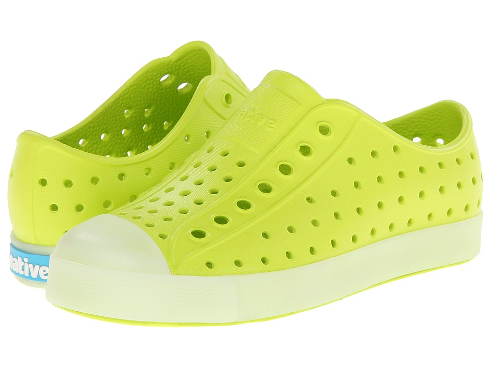 Native Kids Shoes - Jefferson (Toddler/Little Kid) (Chartreuse Green Glow In the Dark) Boys Shoes
