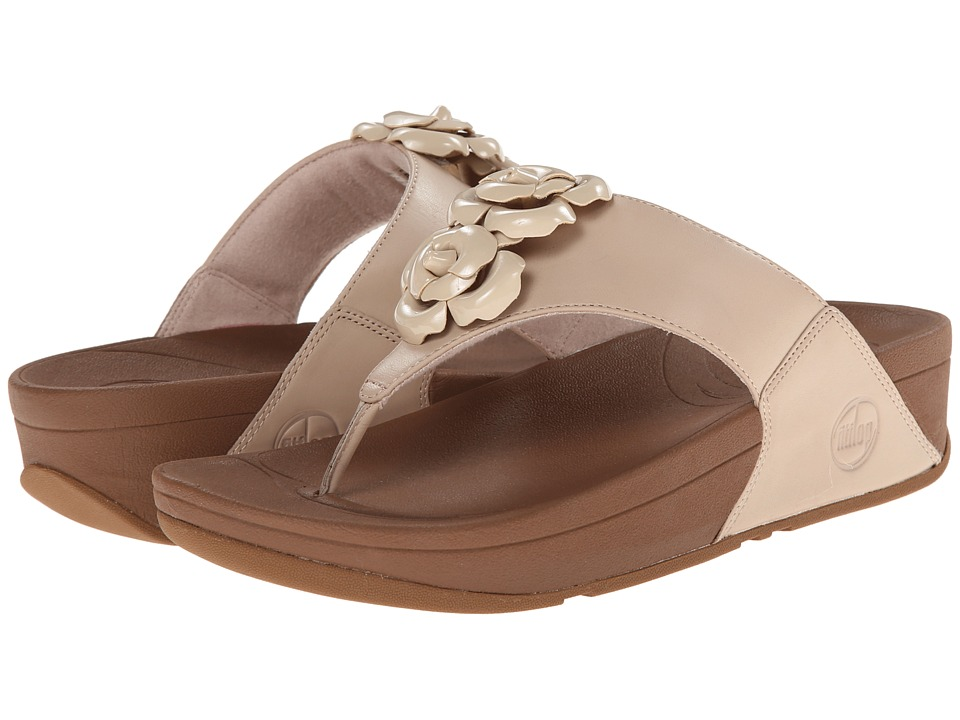 FitFlop - Bloom Toe-Post (Stone) Women's Sandals