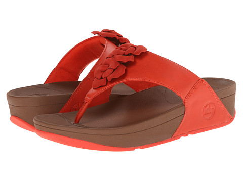 FitFlop - Bloom Toe-Post (Flame) Women