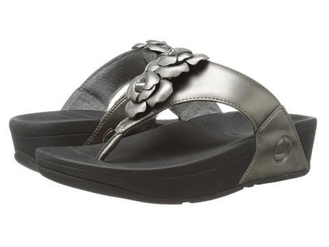 FitFlop - Bloom Toe-Post (Pewter) Women's Sandals