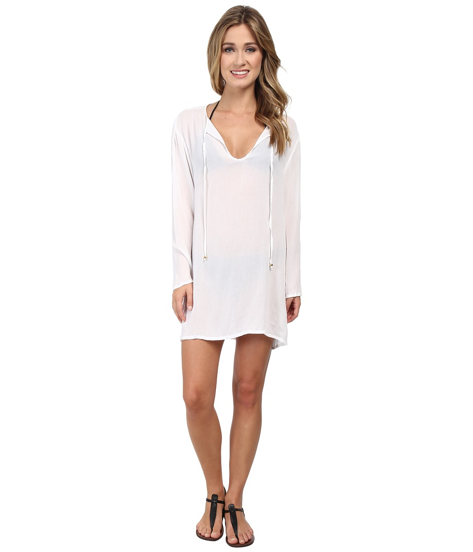 Athena - Finesse Solids Tunic Cover-Up (White) Women's Swimwear