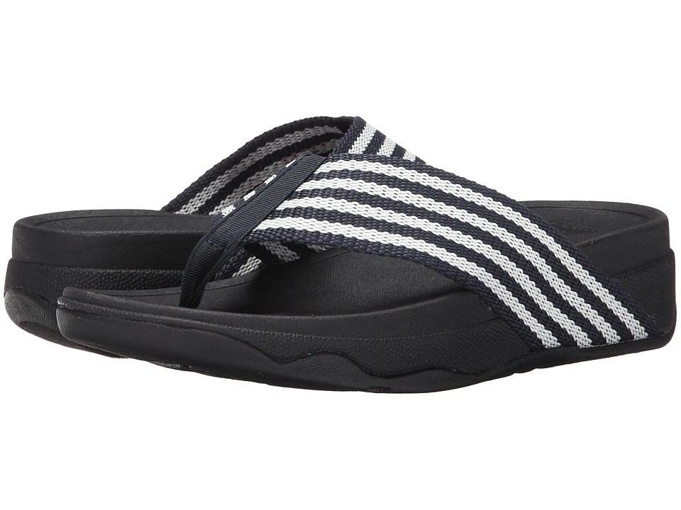 FitFlop - Surfa (Supernavy/White) Women's Sandals