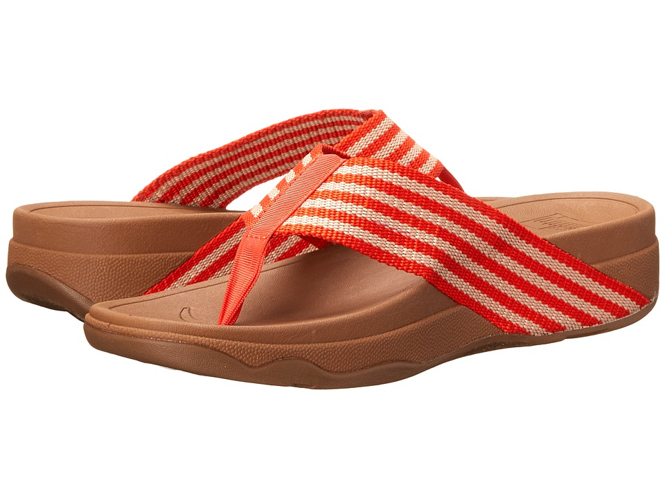 FitFlop - Surfa (Flame/Stone) Women's Sandals