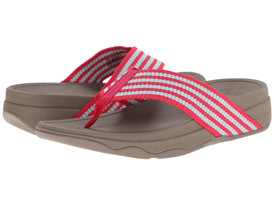 FitFlop - Surfa (Raspberry/Clearwater) Women's Sandals