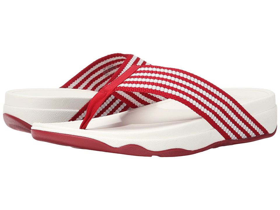 FitFlop - Surfa (Classic Red/Urban White) Women's Sandals