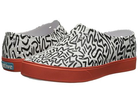 Native Kids Shoes - Miller (Little Kid) (80's Doodle/Fire Red) Boy's Shoes