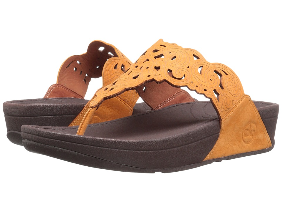 FitFlop Floratm (Nubuck) (Sunflower) Women