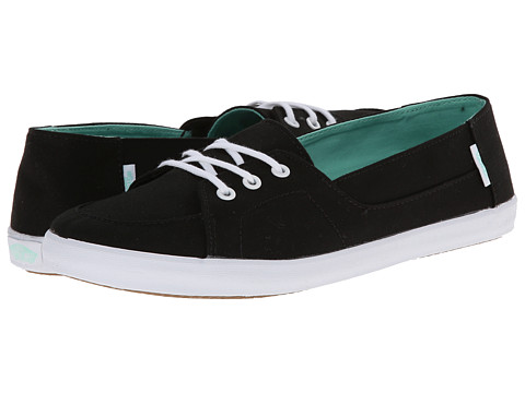 Vans - Palisades Vulc W (Black/Beach Glass) Women's Skate Shoes