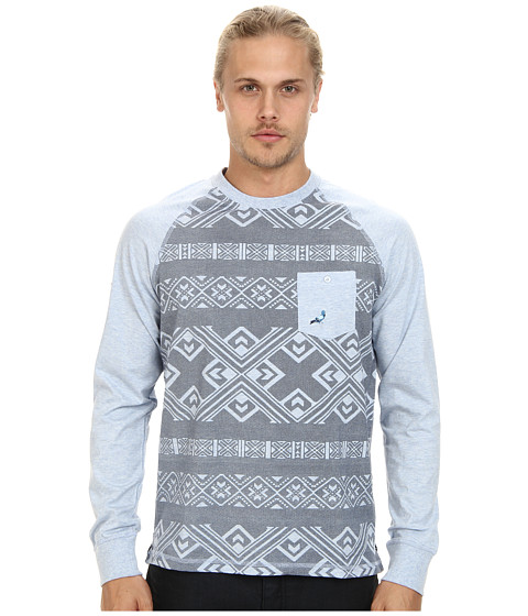 Staple - Exeter L/S Tee (Indigo) Men's T Shirt