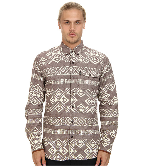 Staple - Exeter Woven Shirt (Chocolate) Men's Clothing