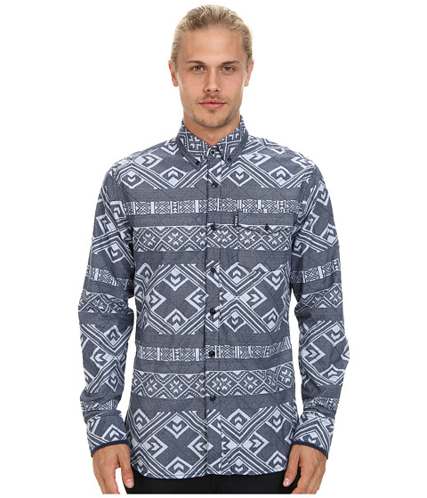 Staple - Exeter Woven Shirt (Indigo) Men's Clothing