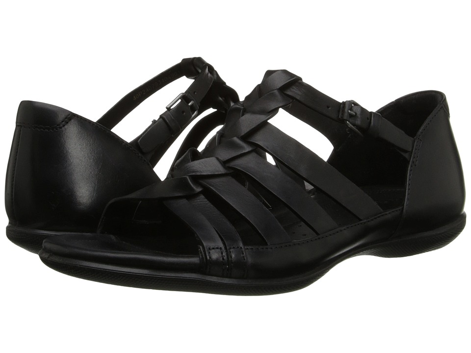 ECCO - Flash Woven Sandal (Black) Women's Sandals