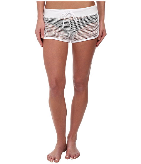 BECCA by Rebecca Virtue - Meshed Up Shorts Cover-Up (White) Women