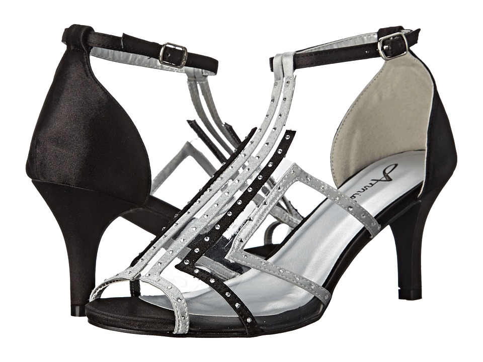 Annie - Lois (Silver/Black) High Heels