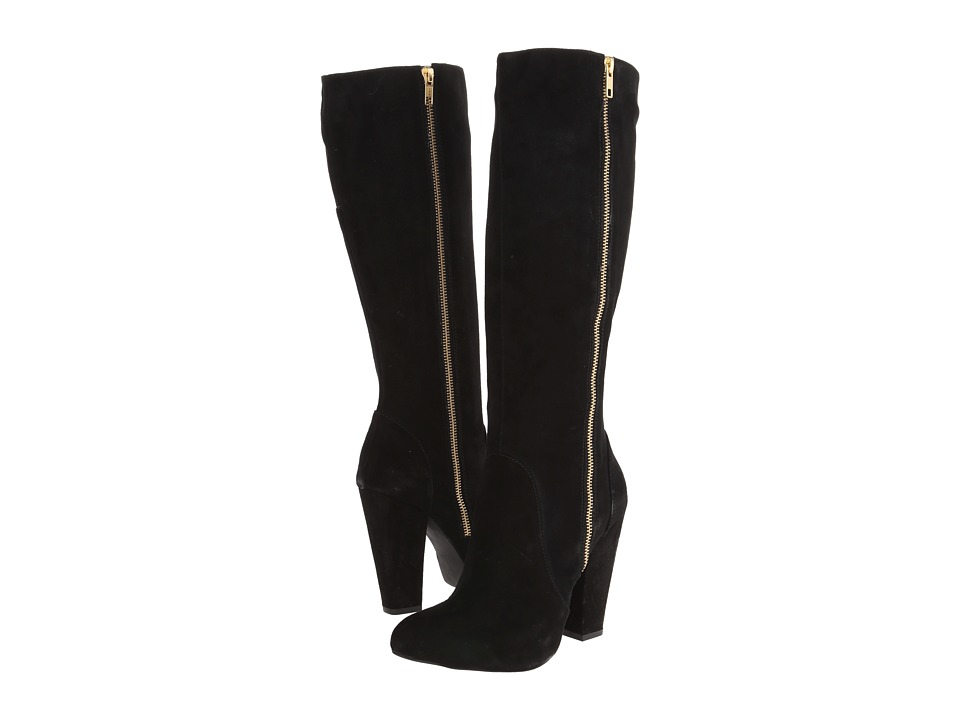 Steve Madden - Joan (Black Suede) Women's Dress Boots