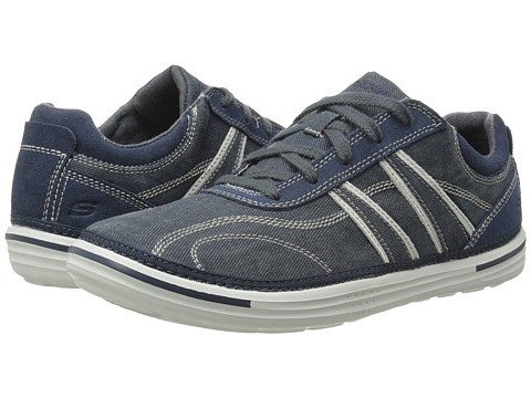 SKECHERS - Relaxed Fit Landen - Morse (Navy) Men's Shoes
