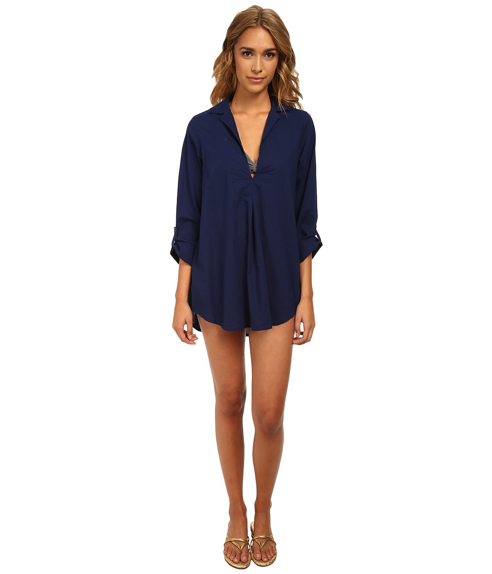 Splendid - Topanga Tunic Cover-Up (Navy) Women's Swimwear