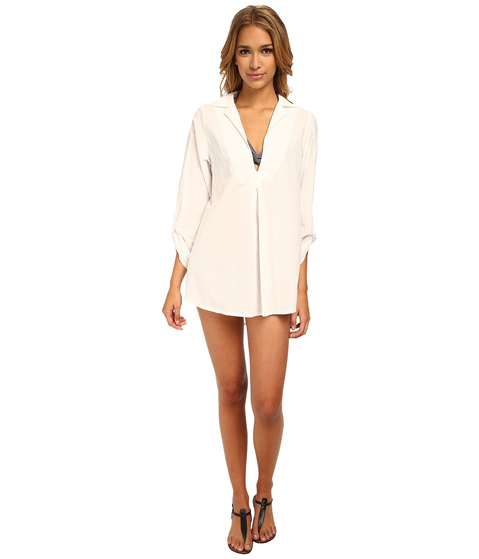 Splendid - Topanga Tunic Cover-Up (White) Women's Swimwear
