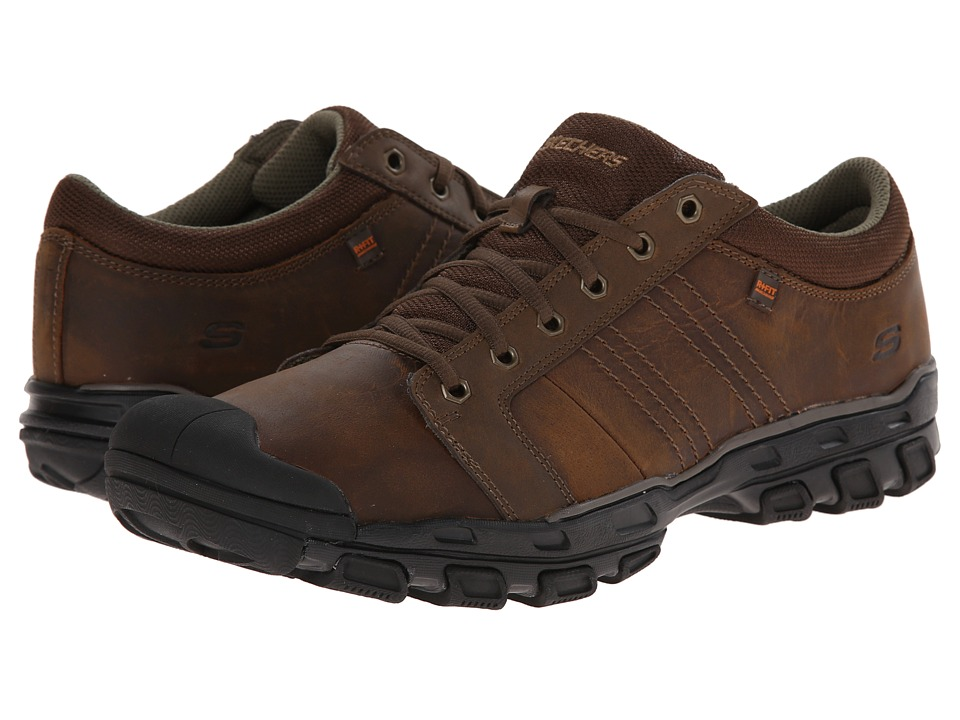 SKECHERS - Relaxed Fit Gander 1 (Dark Brown) Men's Lace up casual Shoes