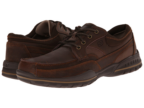 SKECHERS - Vorlez Lington (Dark Brown) Men's Shoes