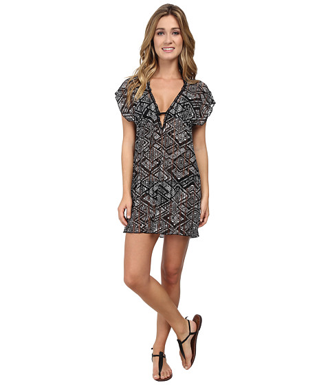 BECCA by Rebecca Virtue - African Beat Tunic Cover-Up (Black/White) Women