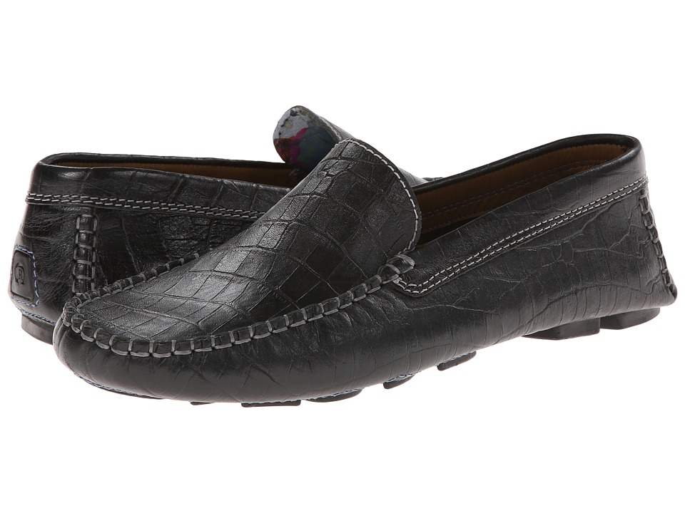 Robert Graham - Verrazano Croc (Black Croc) Men's Slip on Shoes
