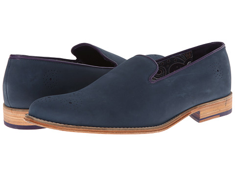 Robert Graham - Moma (Navy) Men's Slip on Shoes