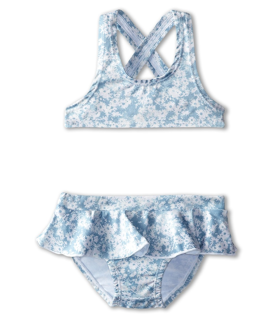 Stella McCartney Kids - Iris Two-Piece Daisy Swimsuit (Toddler/Little Kids/Big Kids) (Blue) Girl