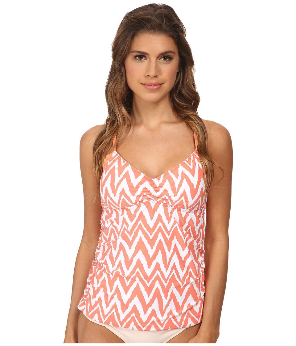 Athena - Sierra Tankini (Coral) Women's Swimwear