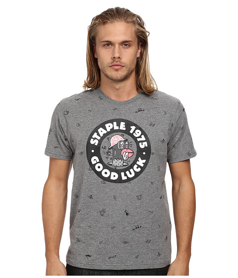 Staple - Steve Harrington Good Luck Tee (Charcoal) Men's T Shirt