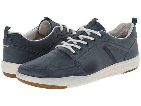 ECCO - Eldon Marina (Denim Blue/Dried Tobacco) Men's Shoes
