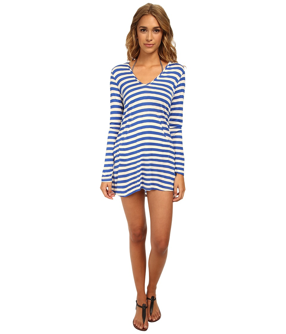 Ella Moss - Cabana Hoodie Cover-Up (Deep Blue) Women's Swimwear